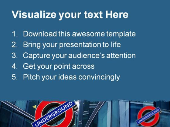 London Underground Travel PowerPoint Template 0910  Presentation Themes and Graphics Slide02