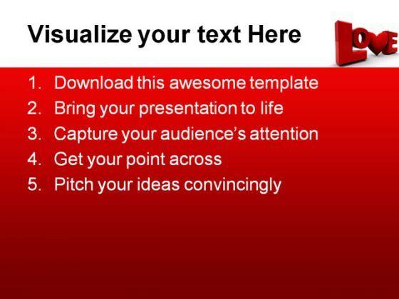 love wedding powerpoint template 0610 | powerpoint presentation, Powerpoint templates