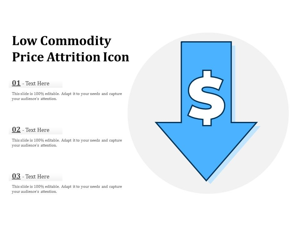 Low Commodity Price Attrition Icon