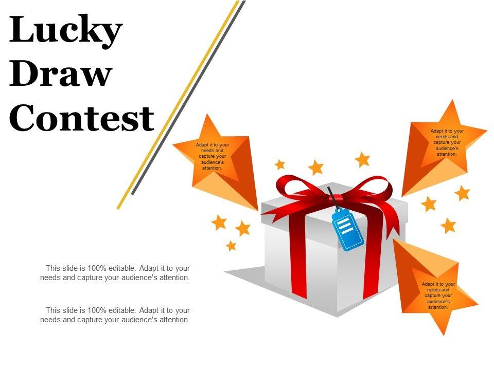Lucky Draw Contest Example Ppt Presentation Powerpoint Slide