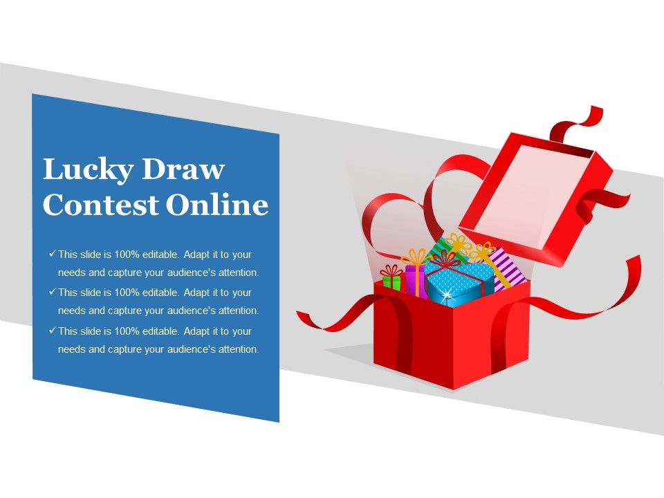 lucky draw contest online sample of ppt presentation powerpoint