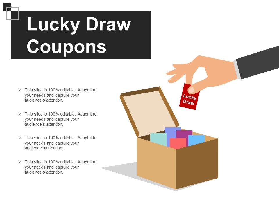 Lucky Draw Coupons Sample Ppt Presentation Powerpoint Templates