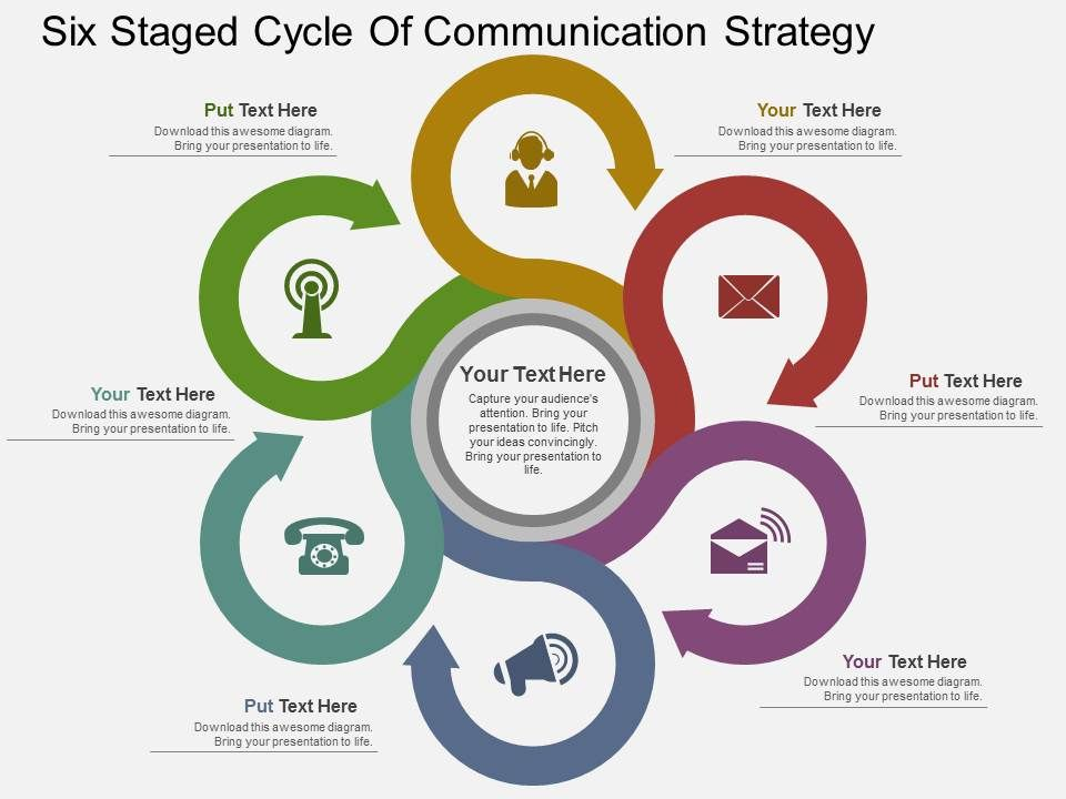 Superior Lw_six_staged_cycle_of_communication_strategy_flat_powerpoint_design_Slide01.  Lw_six_staged_cycle_of_communication_strategy_flat_powerpoint_design_Slide02