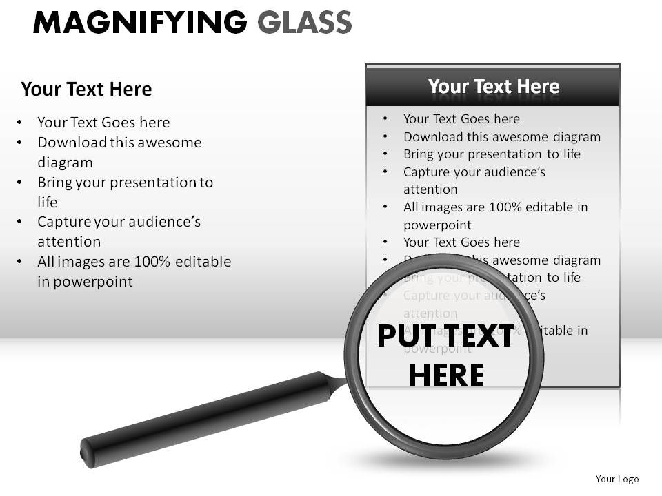 Magnifying Glass Powerpoint Presentation Slides Powerpoint Presentation Images Templates Ppt Slide Templates For Presentation