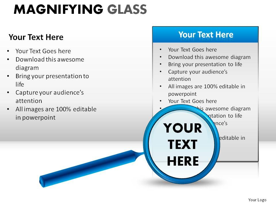 how to make a magnifying glass in powerpoint
