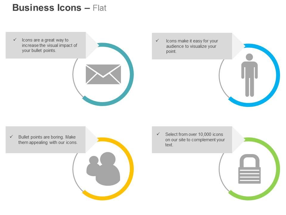 mail man msn messenger lock closed ppt icons graphics