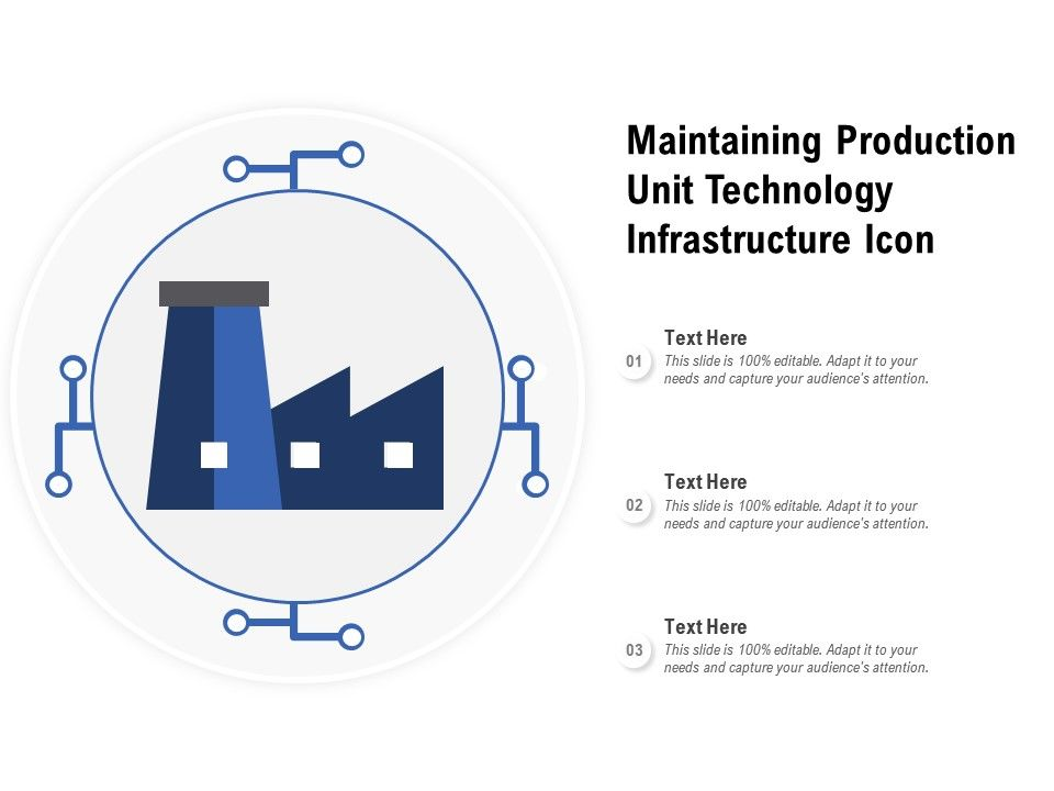 Maintaining Production Unit Technology Infrastructure Icon