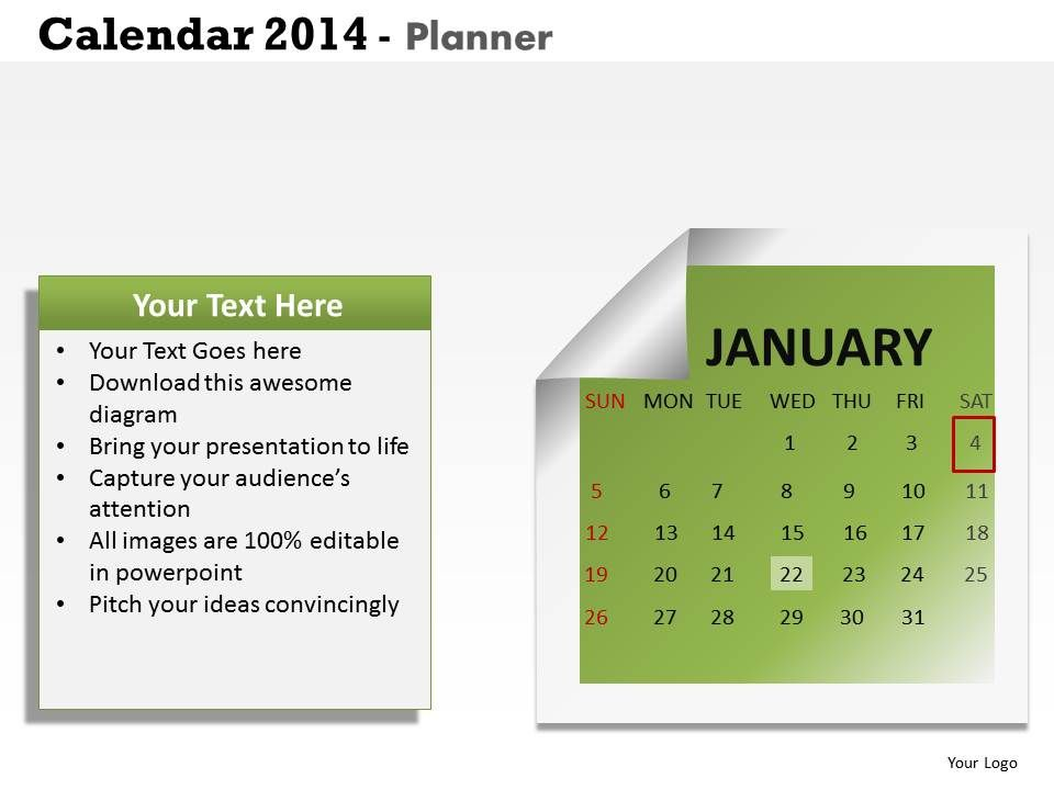 make 2014 calendar the best business year template and powerpoint ...