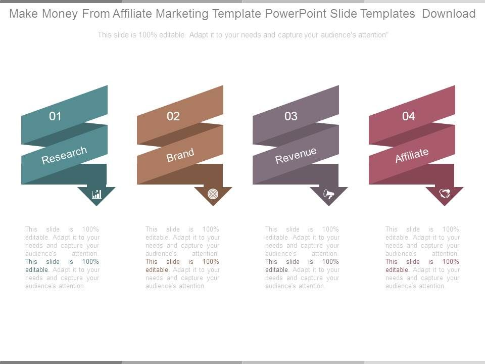 Make Money From Affiliate Marketing Template Powerpoint Slide ...