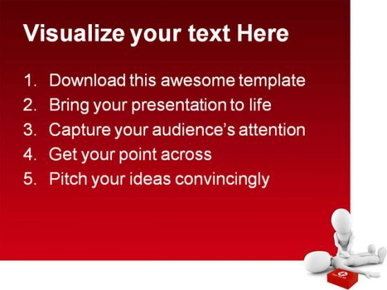Man Providing First Aid Medical Powerpoint Templates And Powerpoint