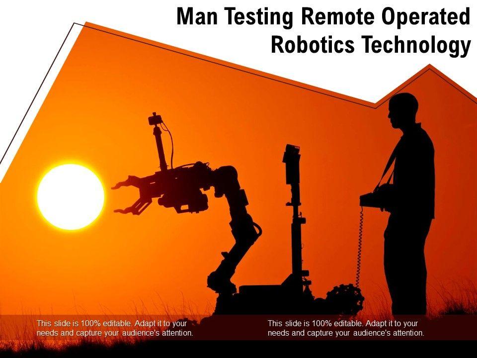Man Testing Remote Operated Robotics Technology