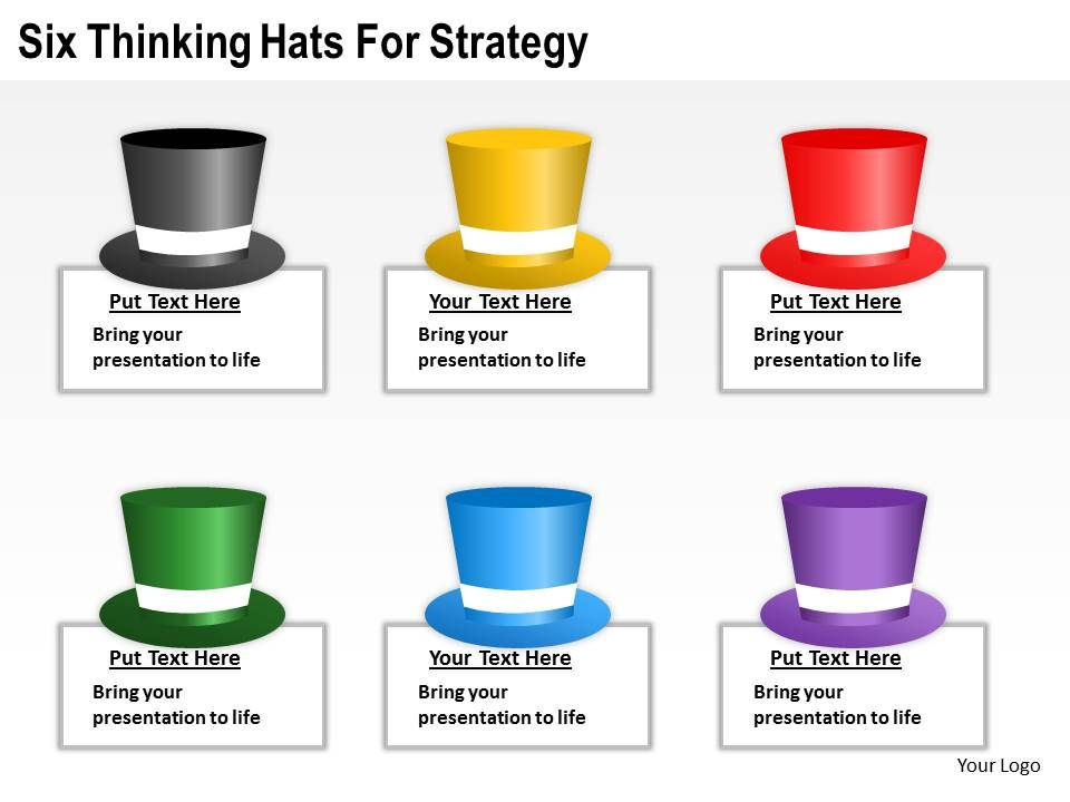 management_consultant_thinking_hats_for_strategy_powerpoint_templates_ppt_backgrounds_slides_0617_Slide01