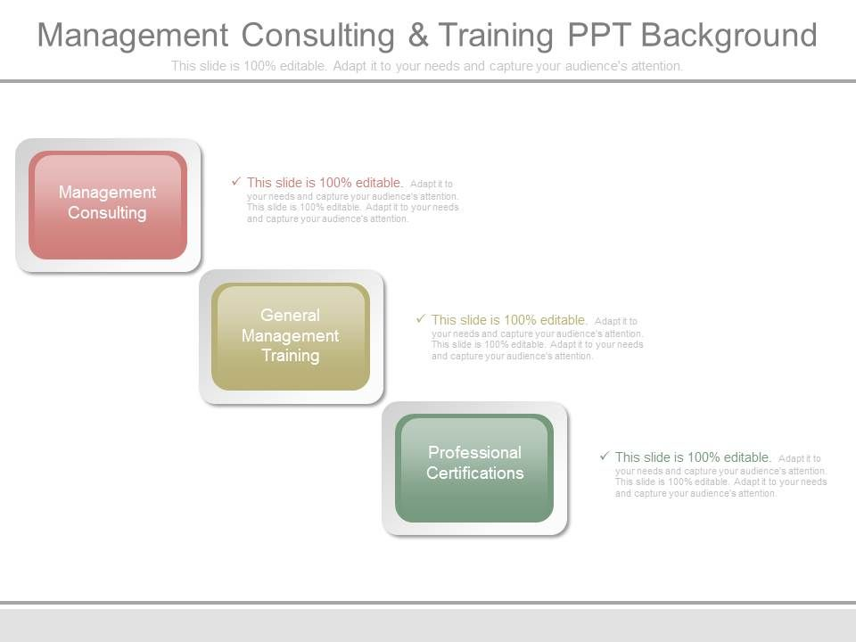 Management Consulting And Training Ppt Background | PowerPoint