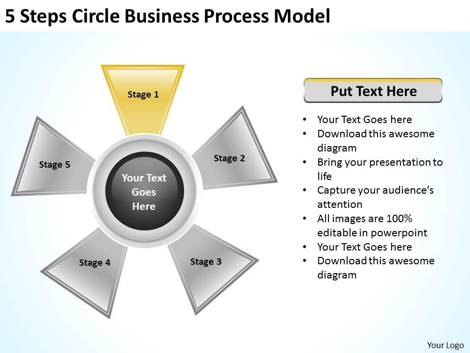 Technology Management Image: Management Consulting Business 5 Steps Circle Process