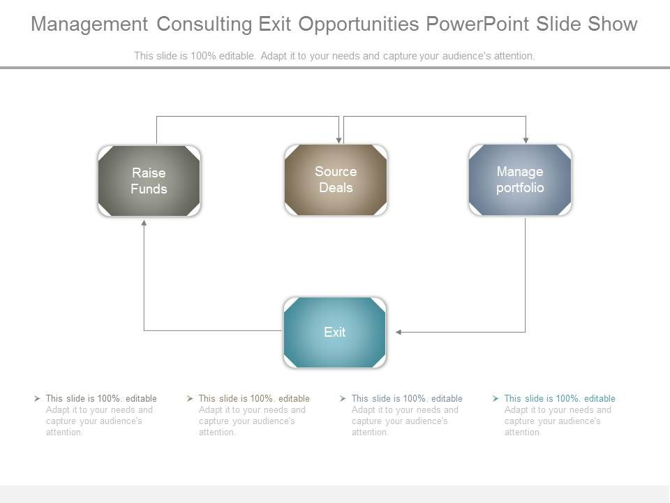 management consulting exit opportunities powerpoint slide show