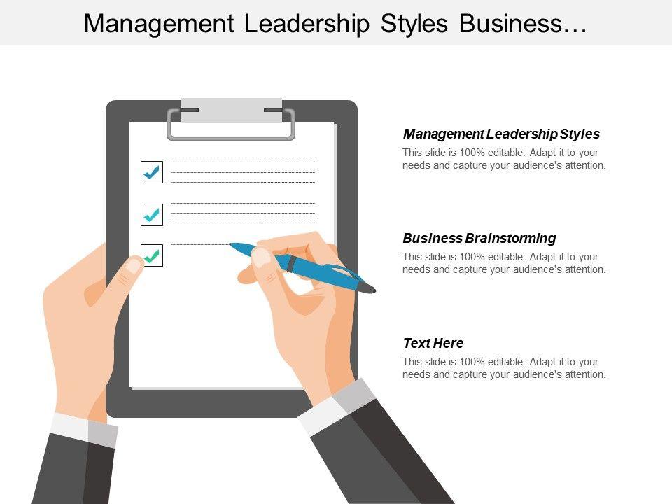 management_leadership_styles_business_brainstorming_supplier_performance_evaluation_cpb_Slide01