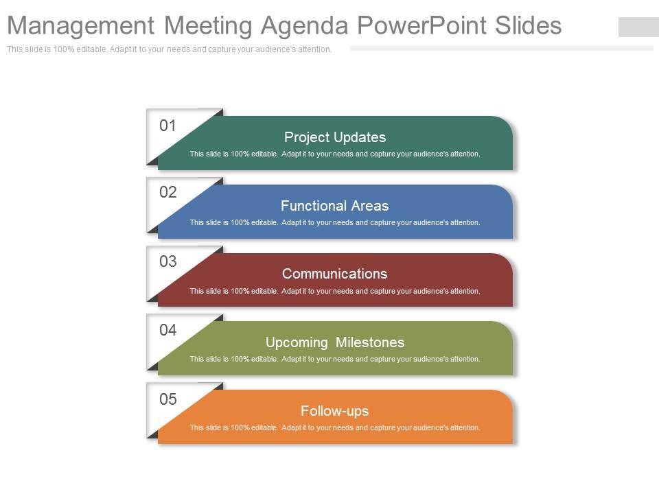 management meeting agenda powerpoint slides powerpoint presentation templates ppt template. Black Bedroom Furniture Sets. Home Design Ideas