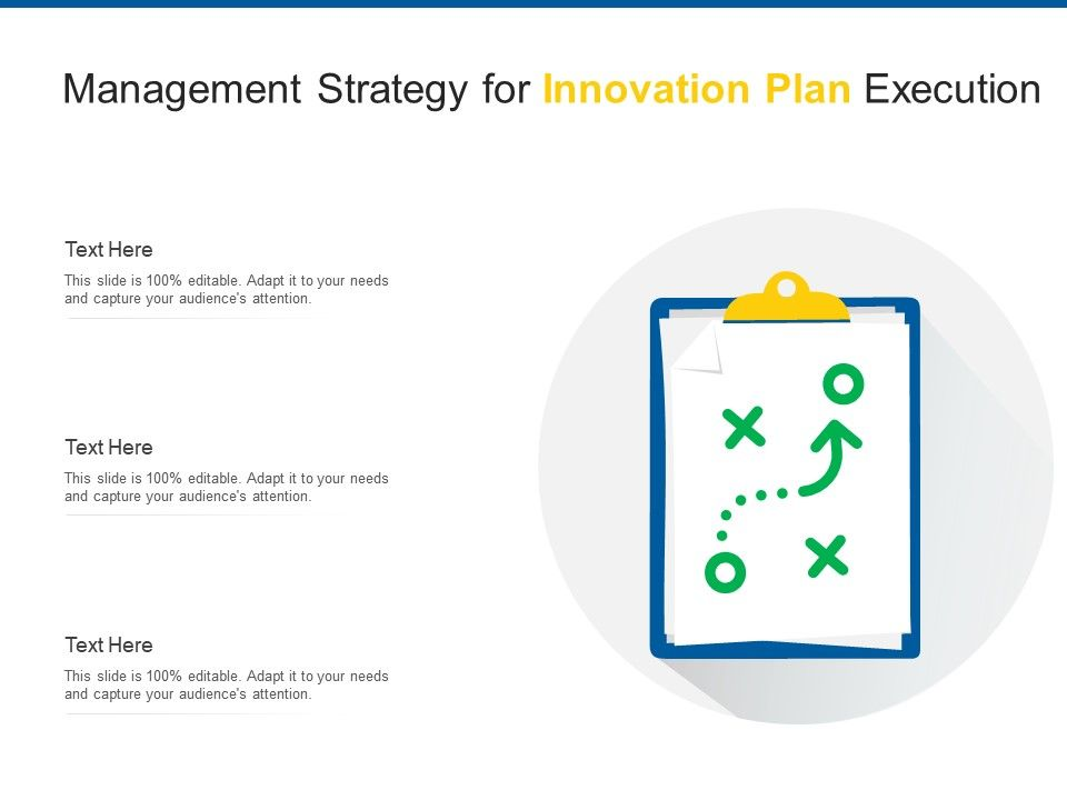 Management Strategy For Innovation Plan Execution Infographic Template