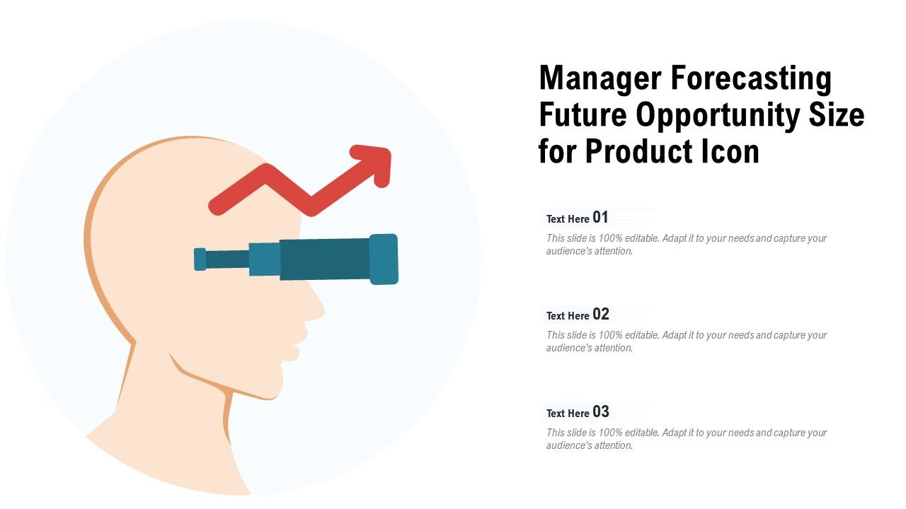 Manager Forecasting Future Opportunity Size For Product Icon
