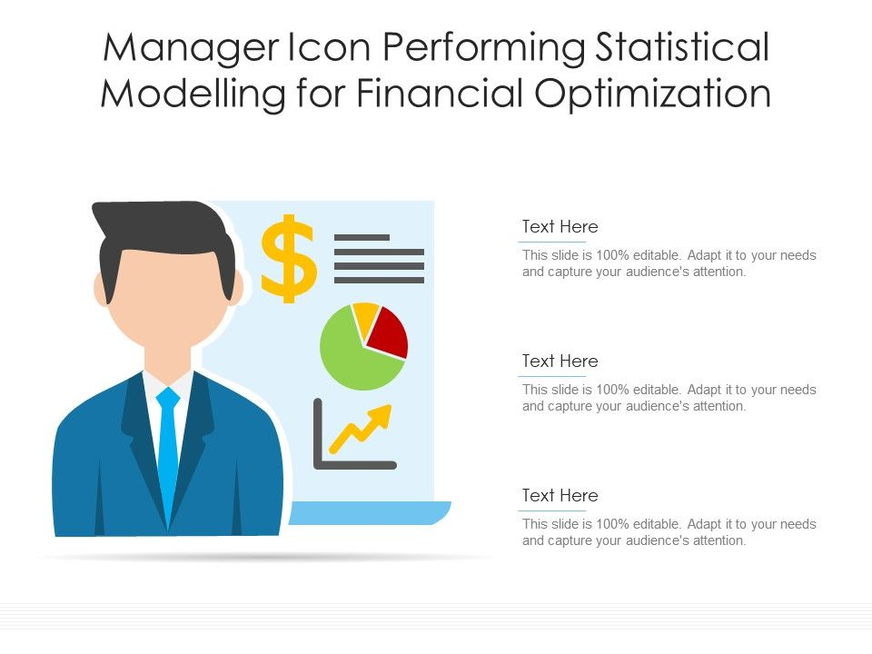 Manager Icon Performing Statistical Modelling For Financial Optimization