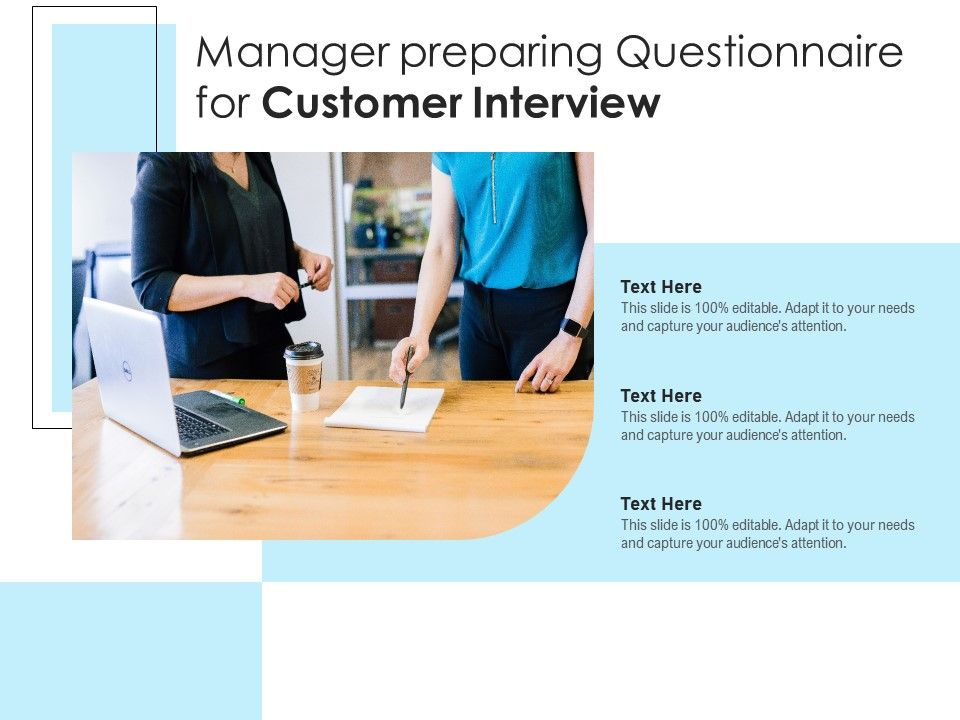 Manager Preparing Questionnaire For Customer Interview