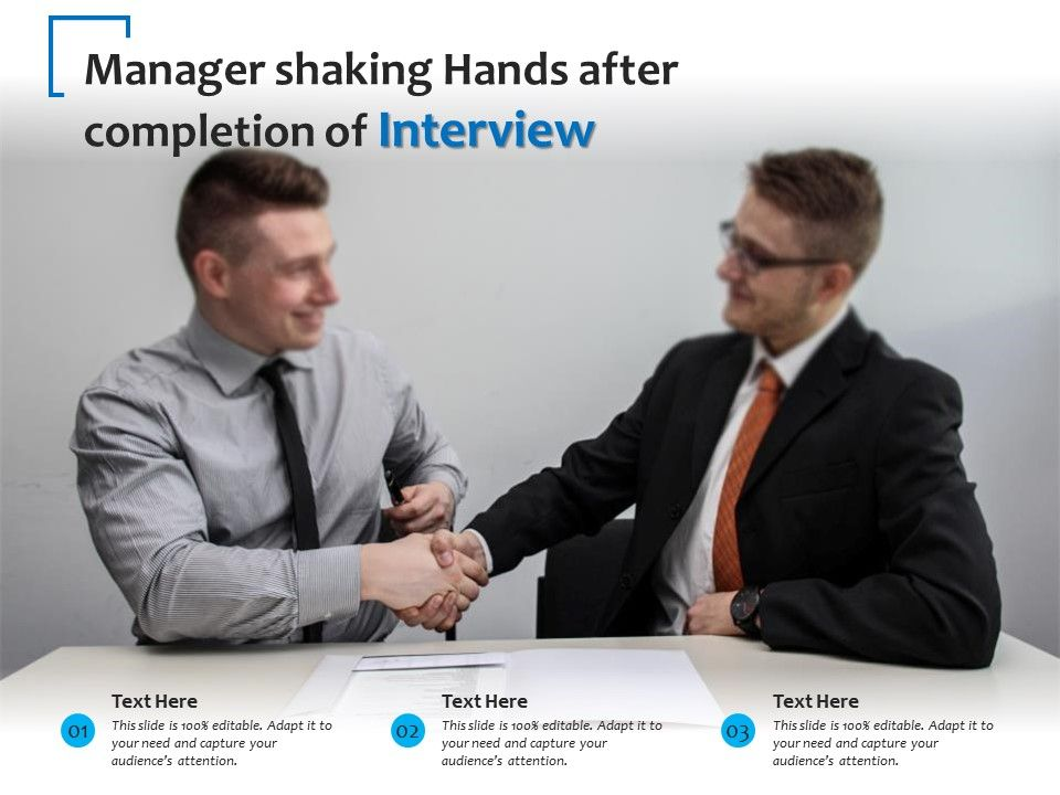 Manager Shaking Hands After Completion Of Interview