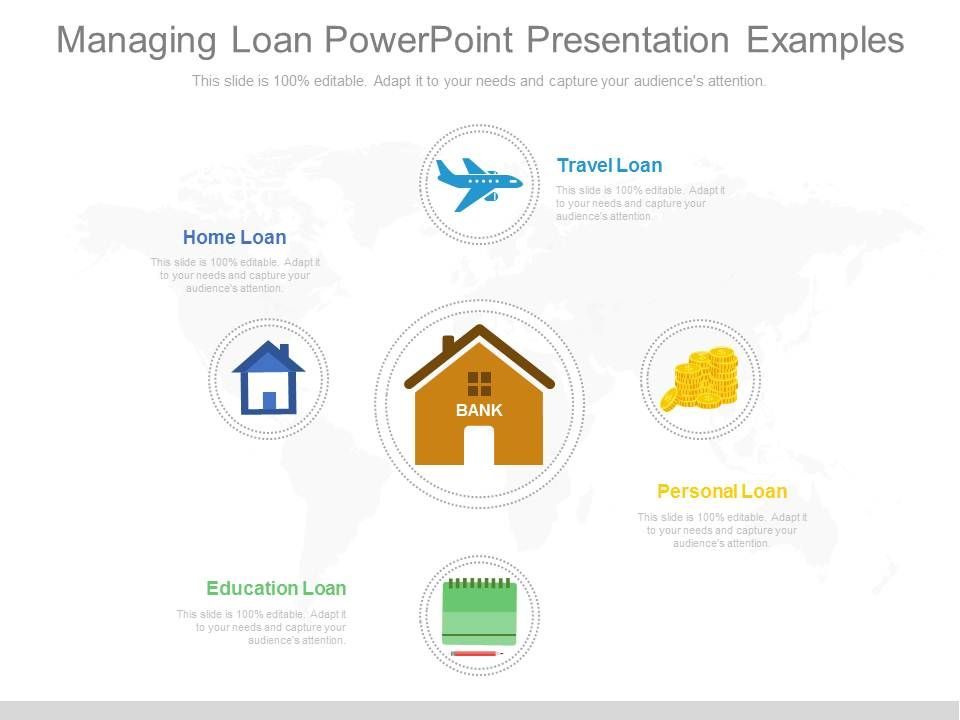 managing loan powerpoint presentation examples   powerpoint, Bank Loan Presentation Template, Presentation templates