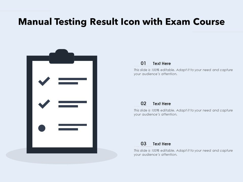 Manual Testing Result Icon With Exam Course