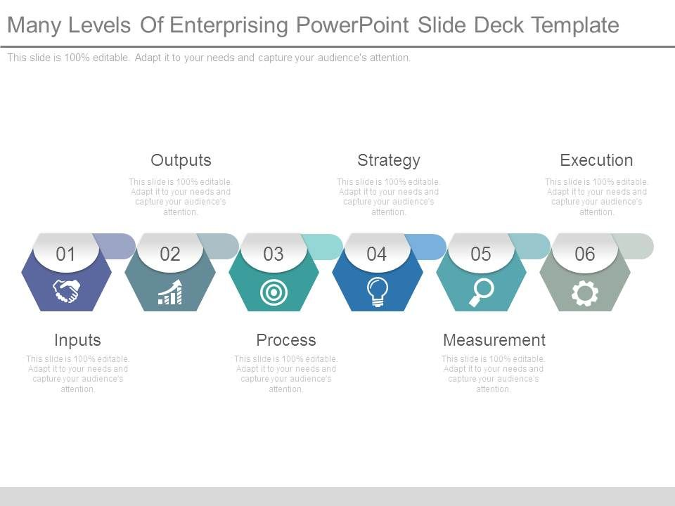 many levels of enterprising powerpoint slide deck template