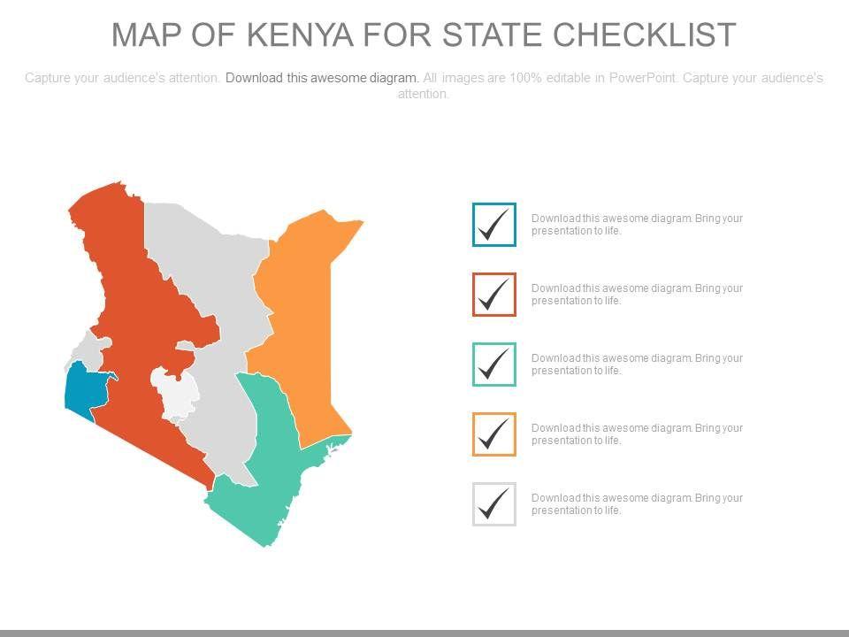 map_of_kenya_for_state_checklist_powerpoint_slides_Slide01