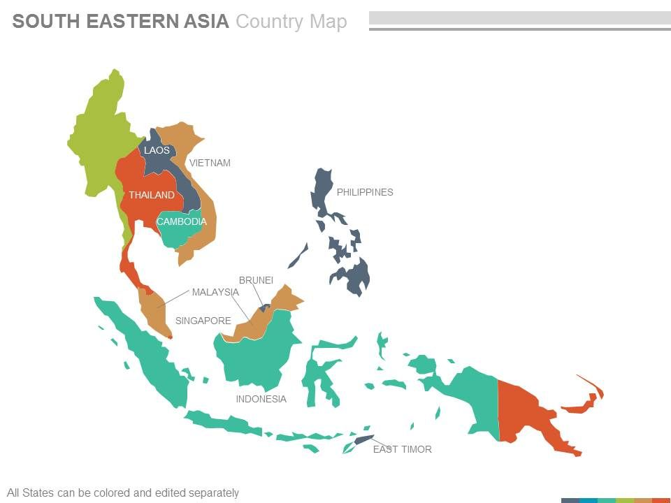 Maps Of South Eastern Asia Region Continent Countries In ...