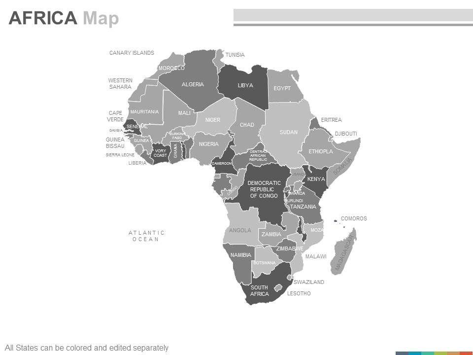 Maps Of The African Africa Continent Countries In Powerpoint Slide02 Slide03