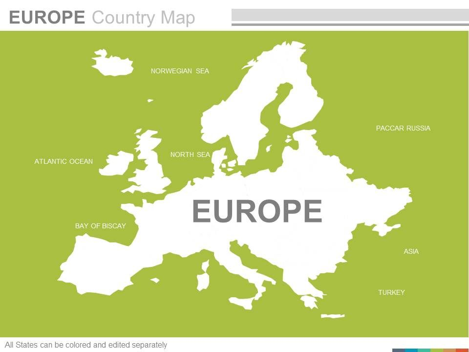 Maps The Europe European Continent Countries In Powerpoint