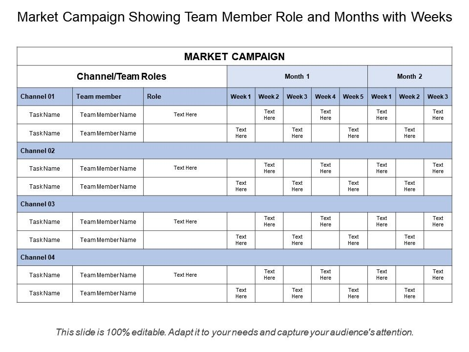 market_campaign_showing_team_member_role_and_months_with_weeks_Slide01