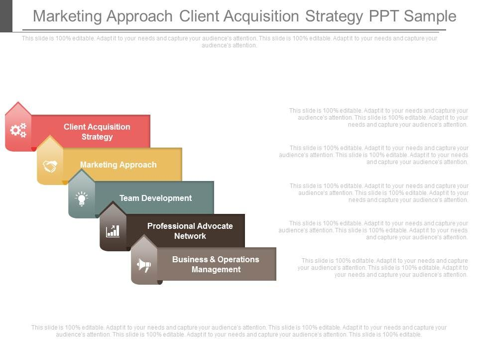Marketing Approach Client Acquisition Strategy Ppt Sample