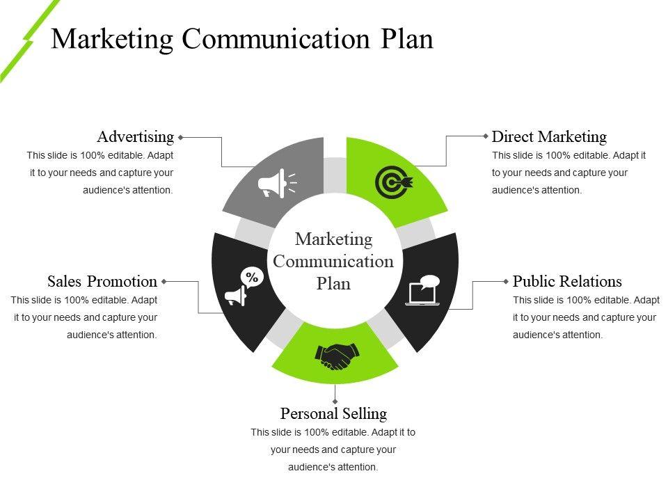 marketing communication plan ppt icon