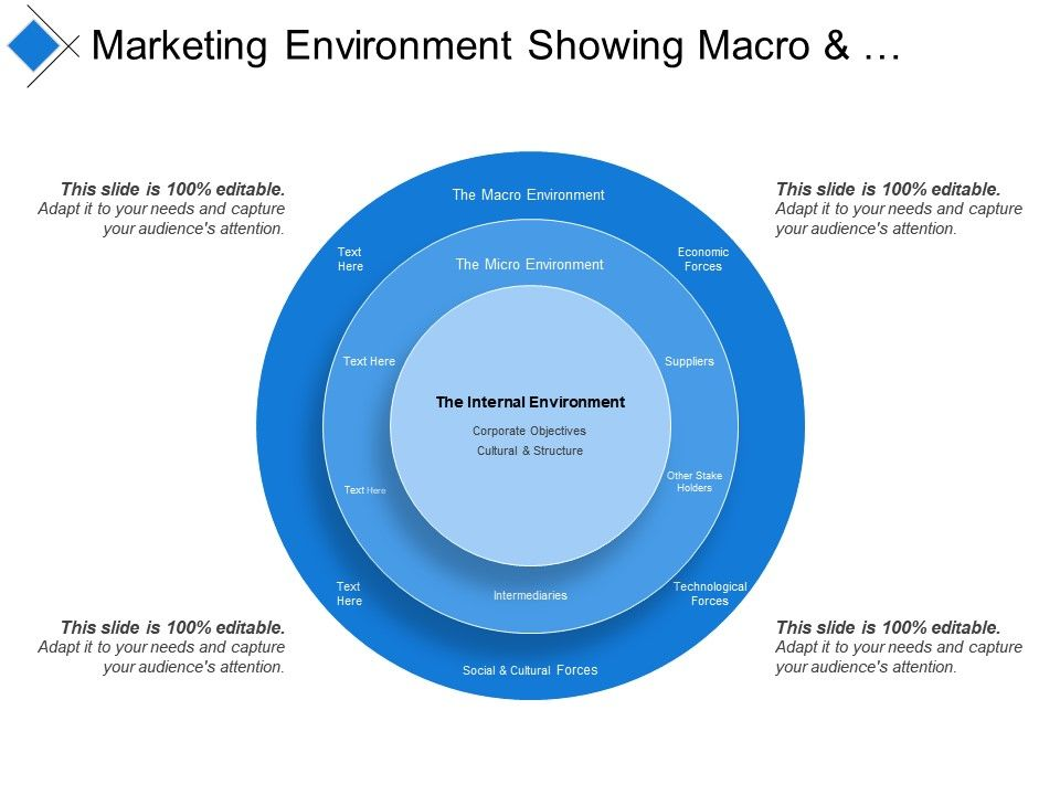Marketing Environment Showing Macro And Micro Environment | PowerPoint  Templates Download | PPT Background Template | Graphics Presentation