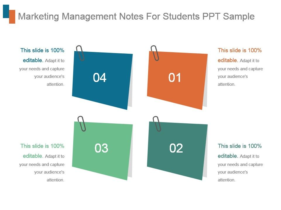 Marketing Management Notes For Students Ppt Sample Presentation
