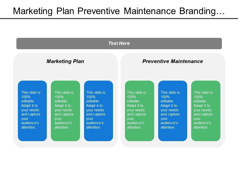 Marketing Plan Preventive Maintenance Branding Technique Business