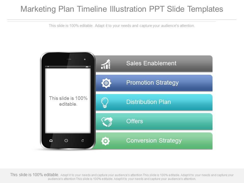 Marketing Plan Timeline Illustration Ppt Slide Templates