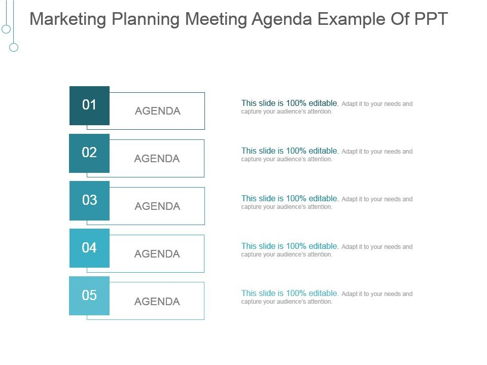 Marketing Planning Meeting Agenda Example Of Ppt | Presentation ...