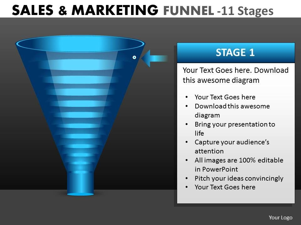 marketing_process_funnel_diagram_with_11_stages_Slide01