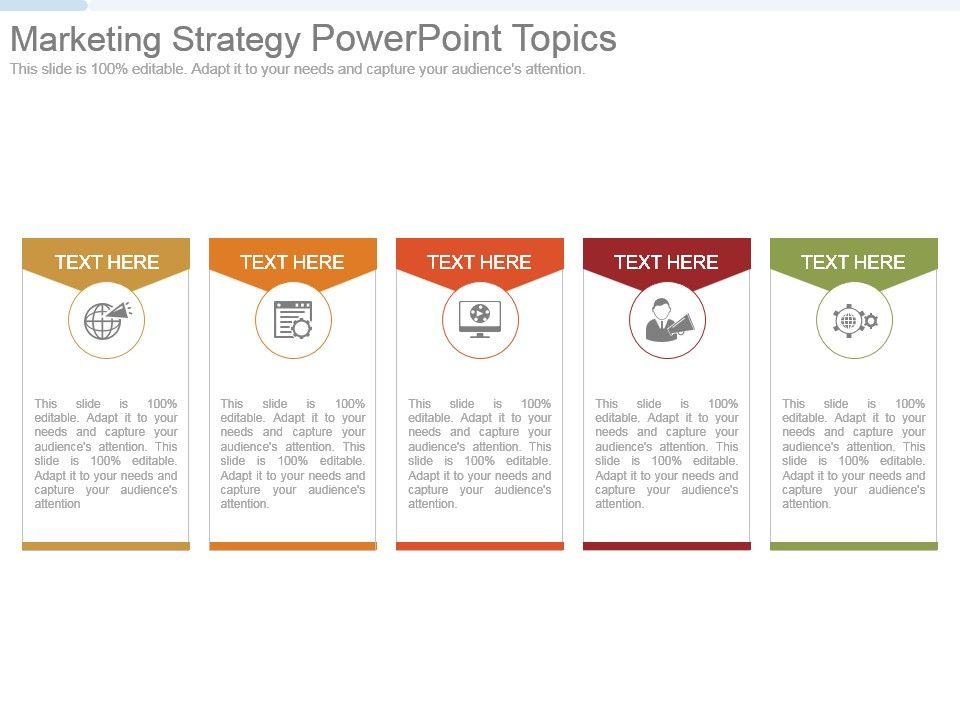 marketing strategy powerpoint topics presentation graphics