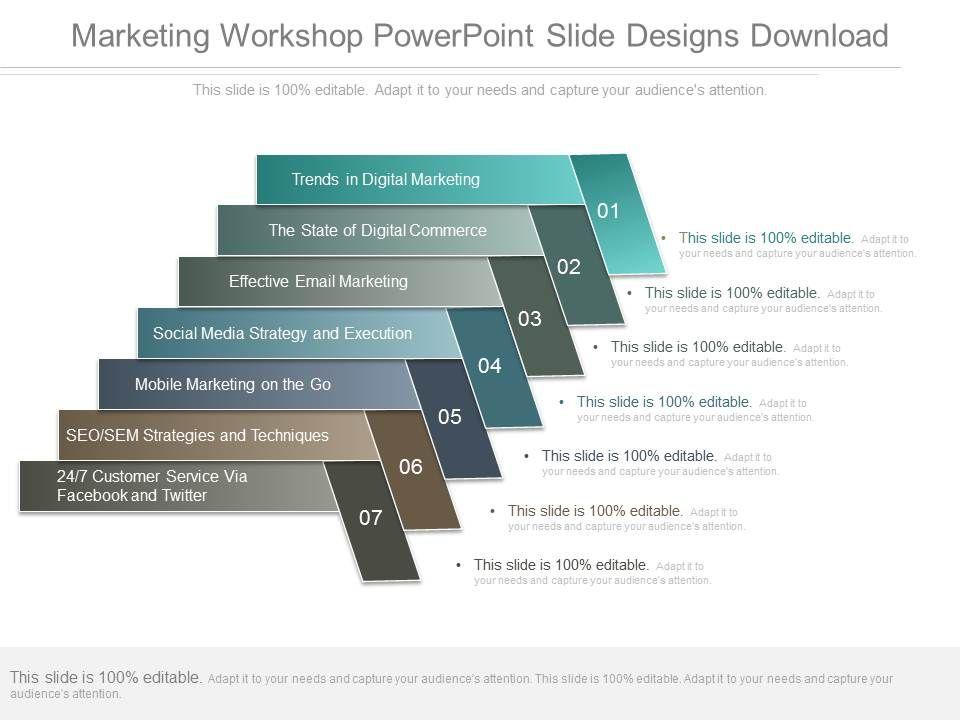 Marketing Workshop Powerpoint Slide Designs Download