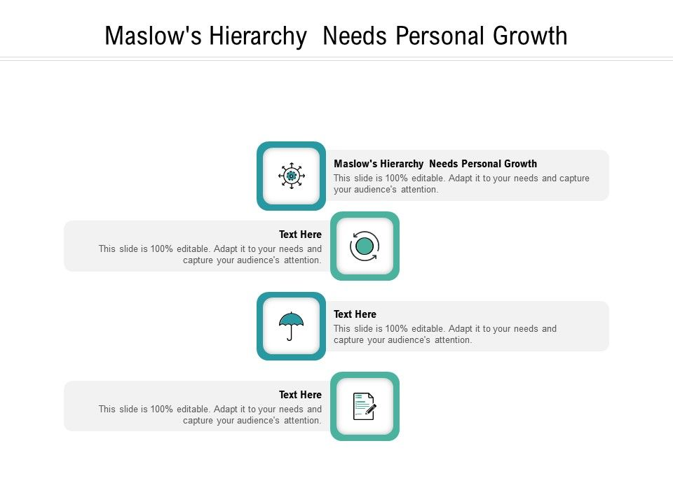 Maslows Hierarchy Needs Personal Growth Ppt Powerpoint Presentation Show Background Cpb