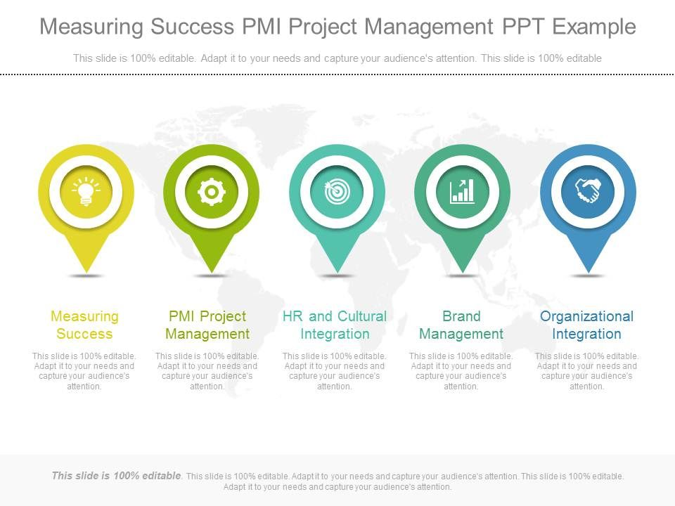 measuring success pmi project management ppt example templates