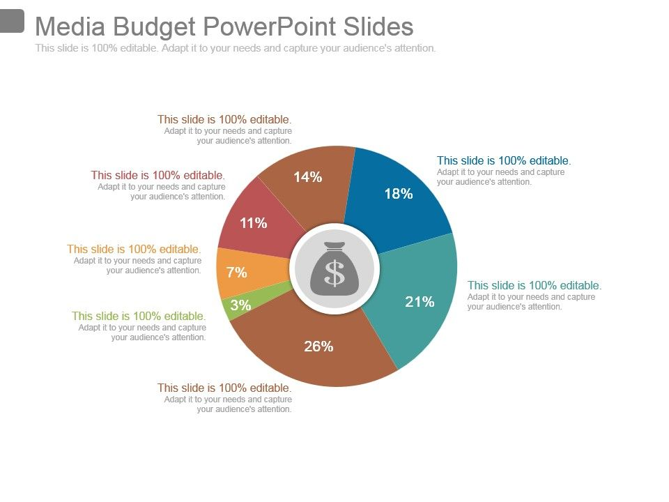 media budget powerpoint slides powerpoint templates backgrounds