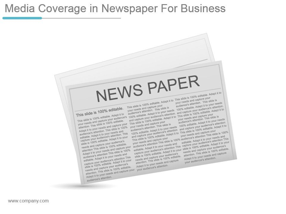 Media Coverage In Newspaper For Business Ppt Design Powerpoint