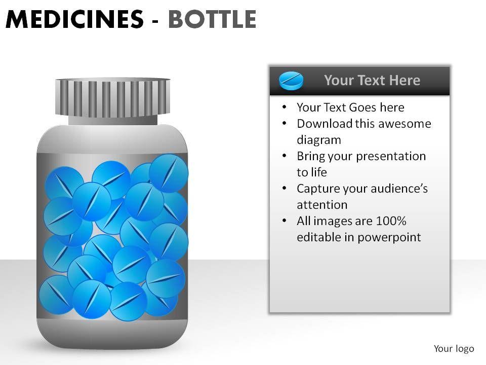 medicine bottles powerpoint presentation slides presentation
