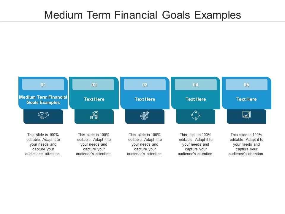Medium Term Financial Goals Examples Ppt Powerpoint Presentation Styles Gridlines Cpb